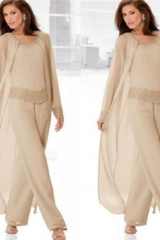 Rochie mama costume Nuntă Talie naturale Înalt acoperit cu Pantaloni