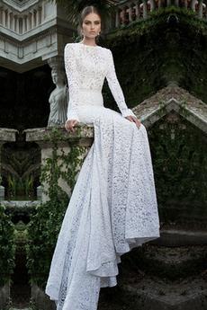 Rochie de mireasa Sirenă Fermoar Talie naturale În aer liber