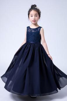 Rochie florăreasă Mediu Elegant Bijuterie Suprapunere de dantela