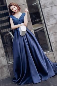 Rochie de bal Elegant Nuntă A-linie Drapat Iarnă Fără mâneci