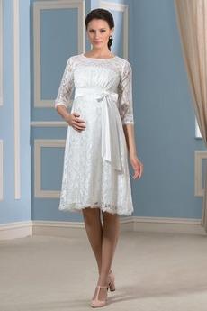 Rochie de mireasa Arc Arc accentuată Vara Maternitate Elegant