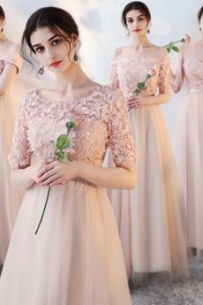 Rochie de domnişoară de onoare Tul Nuntă Lungime de glezna Suprapunere de dantela