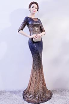Rochie de bal Fara spate Tricou Sirenă Pară Performanță Şic Bateau