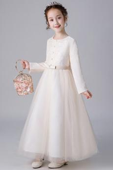 Rochie florăreasă Tul A-linie Tricou Formale Mâneci lungi Performanță