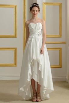 Rochie de mireasa Fără curele Fără mâneci Clepsidră Taftă Asimetric