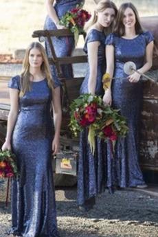 Rochie de domnişoară de onoare Pară Sirena Fara spate Tricou