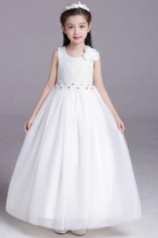 Rochie florăreasă Arc Bijuterie Elegant Fără mâneci Lungime de glezna