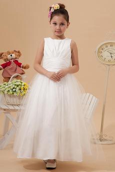 Rochie florăreasă Mediu Romantice Tul acoperire Cădea Fermoar