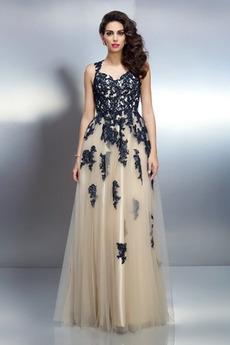 Rochie de seara Fara spate Nuntă Sexy Fără mâneci Dantela Talie naturale