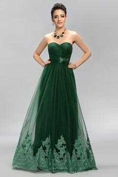 Rochie de bal Dragă Talie naturale Mătura Elegant Banchet Dantela