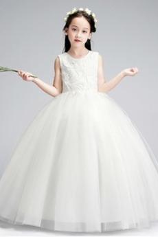 Rochie florăreasă Tul Primăvară Fermoar Appliqué Elegant A-linie