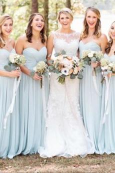 Rochie de domnişoară de onoare Sifon Nuntă A-linie Primăvară