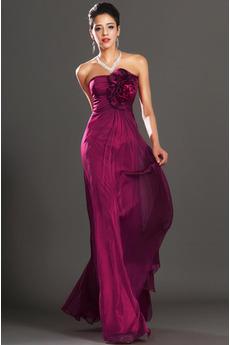 Rochie de seara Talie imperiu Corsetul plisate Flori Elegant