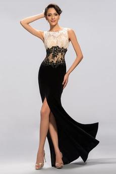 Rochie de seara Sirenă Afișează Fermoar Appliqué Catifea Lungime de glezna