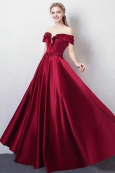 Rochie de bal V-gât adânc Mâneci plafonate Mâneci scurte Dantelă sus