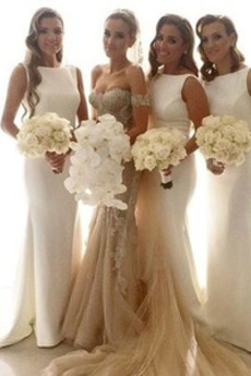 Rochie de domnişoară de onoare Fără mâneci Mediu Primăvară Nuntă