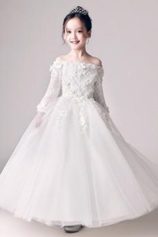 Rochie florăreasă Talie naturală Lungime de glezna De pe umăr