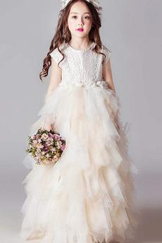 Rochie florăreasă Talie naturale Mâneci plafonate Bijuterie