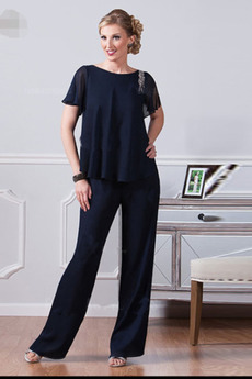Rochie mama costume cu Pantaloni Ciubuc Bateau Talie naturale