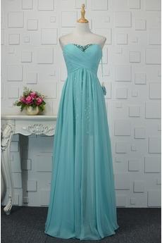 Rochie de seara Vară Corsetul plisate Elegant Imperiul Cutat