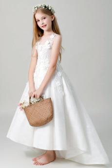 Rochie florăreasă Bandaj Mediu Fără mâneci A-linie Nuntă Talie naturale
