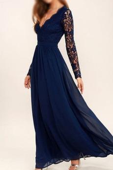 Rochie de domnişoară de onoare A-linie Sifon Talie naturale Corsetul plisate