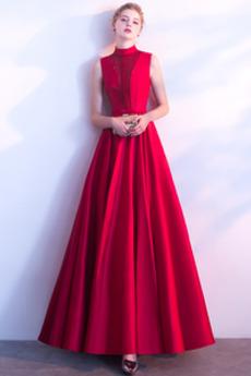 Rochie de bal Un gât înalt Elegant A-linie Iarnă Performanță
