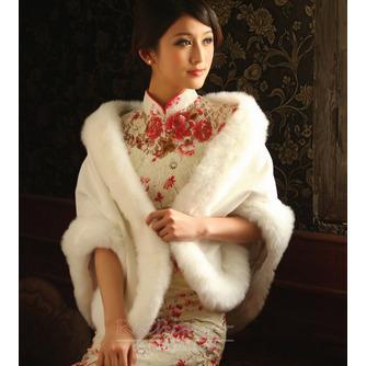 Elegant alb de iarna alb gros de cristal floare broșă dreptunghi nunta șal - Pagină 2