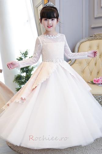 Rochie florăreasă Tul Arc accentuată Umflat Bijuterie Fermoar - Pagină 1