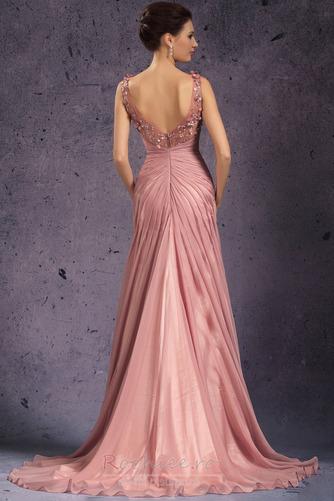 Rochie de seara Fermoar Rozetă accentuată V gâtului Fără mâneci - Pagină 6