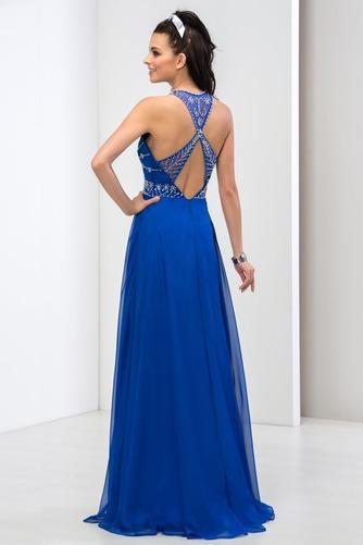 Rochie de bal Corsetul cu bijuterii Nu înapoi A-linie Fără mâneci - Pagină 3