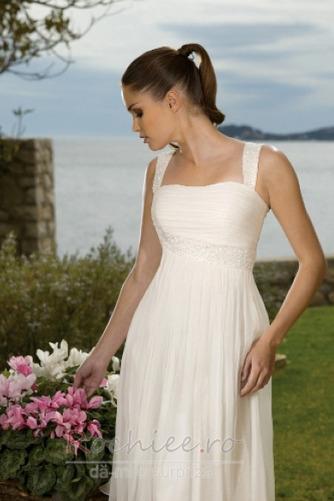 Rochie de mireasa Fermoar Corsetul plisate A-linie În aer liber - Pagină 3