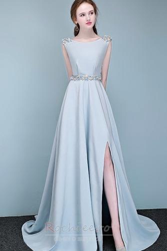Rochie de bal Fără mâneci Fermoar Elegant Talie naturală Bateau - Pagină 1