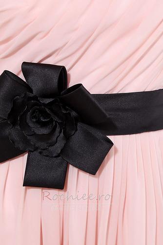 Rochie de domnişoară de onoare Lung Pompos Perla roz Drapat Un umăr - Pagină 7