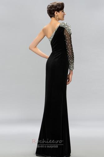 Rochie de bal Sexy Mâneci lungi Şifon Etaj lungime Mediu Un umăr - Pagină 3