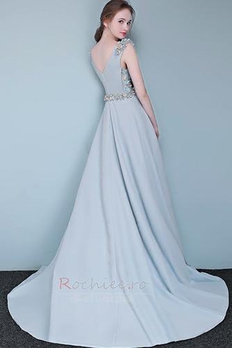 Rochie de bal Fără mâneci Fermoar Elegant Talie naturală Bateau - Pagină 2