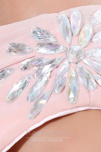 Rochie de domnişoară de onoare Lung Pompos Perla roz Drapat Un umăr - Pagină 8