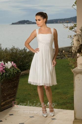 Rochie de mireasa Fermoar Corsetul plisate A-linie În aer liber - Pagină 1