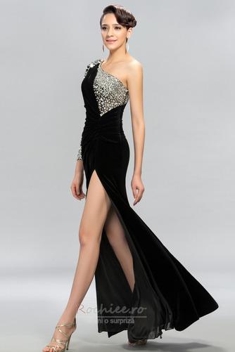 Rochie de bal Sexy Mâneci lungi Şifon Etaj lungime Mediu Un umăr - Pagină 2