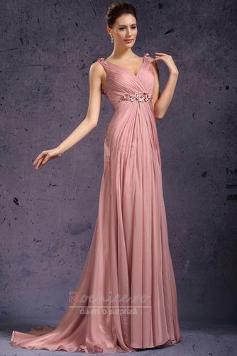 Rochie de seara Fermoar Rozetă accentuată V gâtului Fără mâneci - Pagină 2