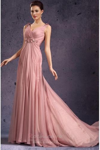 Rochie de seara Fermoar Rozetă accentuată V gâtului Fără mâneci - Pagină 5