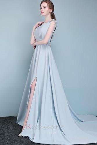 Rochie de bal Fără mâneci Fermoar Elegant Talie naturală Bateau - Pagină 3