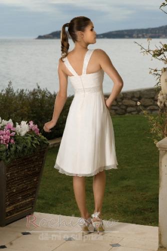 Rochie de mireasa Fermoar Corsetul plisate A-linie În aer liber - Pagină 2