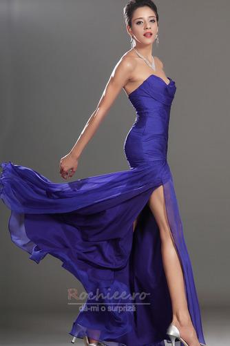 Rochie de bal Plin de farmec Talie Scăzut Şifon Sirenă Etaj lungime - Pagină 5