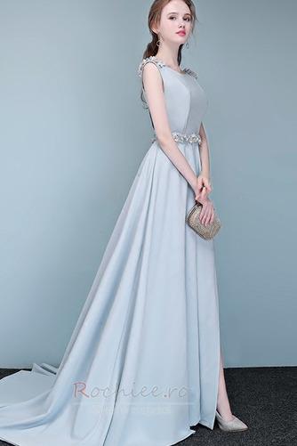 Rochie de bal Fără mâneci Fermoar Elegant Talie naturală Bateau - Pagină 4